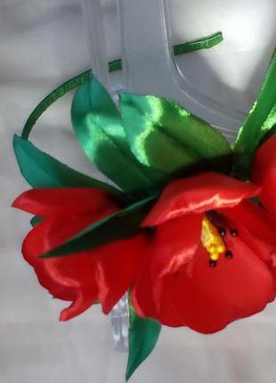 """Обруч """"тюльпаны""""  авторская ручная работа,  ободок"""
