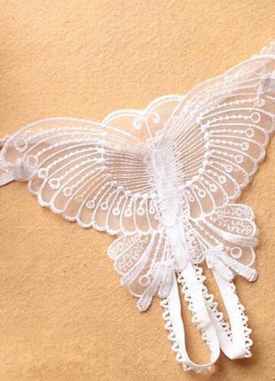 Женское кружевное нижнее белье с бабочкой