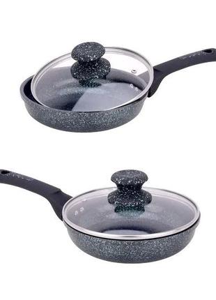 Сковорода гранитная с крышкой Ø28см. Edenberg EB-3418