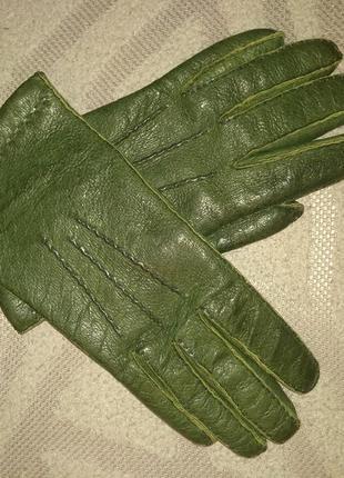 Кожаные перчатки, деми