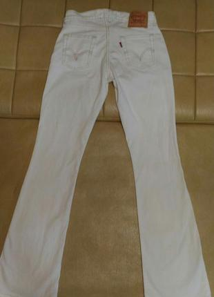 Джинсы levis 529 w29 l34 белоснежно-белые