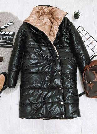 Зимнее пальто двухстороннее