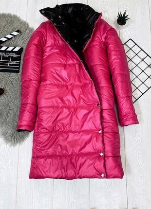 Пальто зимнее двухстороннее куртка