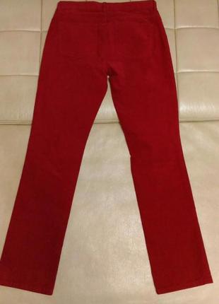 Красные джинсы  ralph lauren, мелкий вельвет, р.30