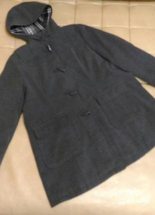 Пальто серое yessica , р. xl