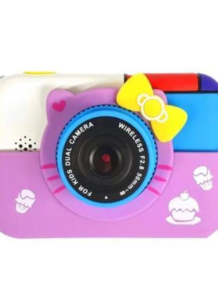 Детский цифровой фотоаппарат Children's fun Хелло Китти с 2 ка...