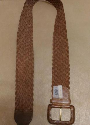 Пояс, ремень натур.кожа для верхней одежды, коричневый