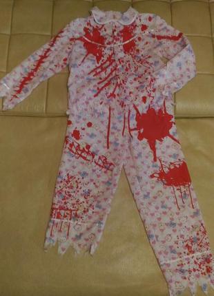 Карнавальный костюм зомби для девочки 10-12лет