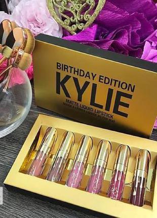 Набор жидких матовых помад Кайли Дженнер Kylie Jenner 6 оттенков,