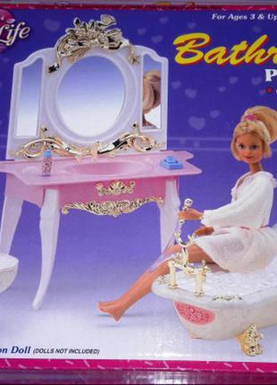 Мебель для кукол Gloria Глория 2316 Ванная комната Барби Набор ва