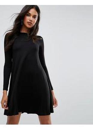 Базовое черное платье-трапеция (платье  для беременных)