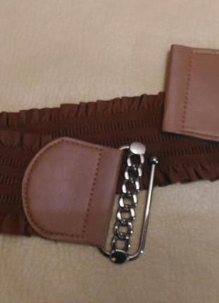 Пояс резинка для верхней одежды, коричневый