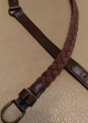 Пояс, ремень, натуральная кожа+ текстиль