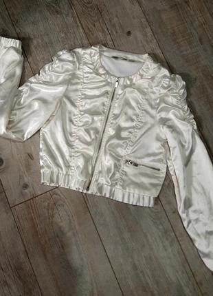 Распродажа! 1+1=3! атласная короткая куртка ветровка lindex