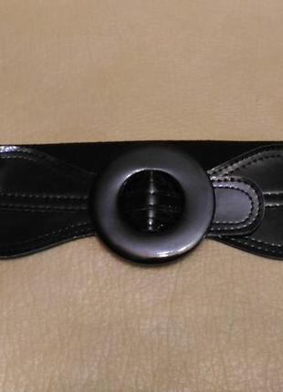 Пояс резинка, чёрный для верхней одежды