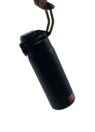Термопляшка casno 450 мл kxn-6065 чорна skl24-277407