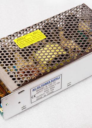 Блок питания импульсный 12V 10A металлический корпус