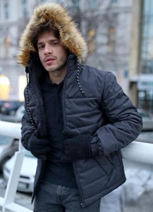 Теплый пуховик куртка аляска alaska с капюшоном непромокающая ...