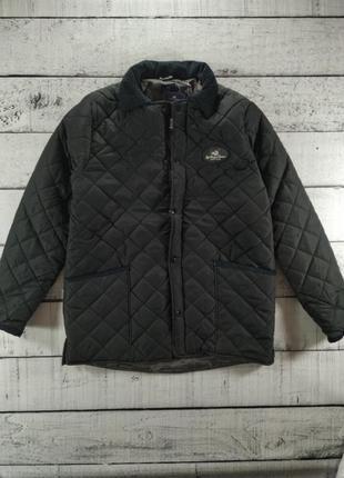 Куртка стеганная черная демисезонная polo club