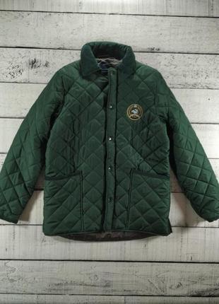 Куртка стеганная зеленая демисезонная polo club