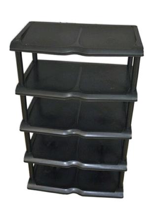 Тумба пластиковая для обуви новая не дорого на 5 ярусов черная