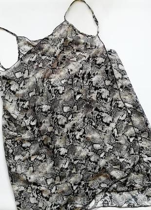Парео-платье на бретелях туника в змеиный принт