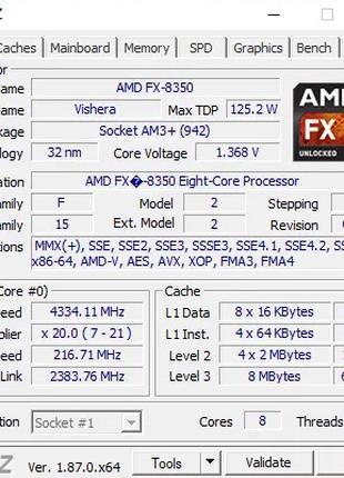Процессор AMD FX-8320 Am3+ 3.5GHz Для Пк