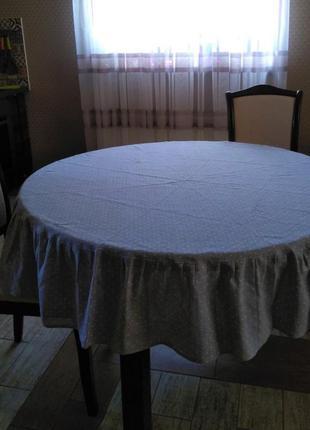 Скатерть на большой круглый стол