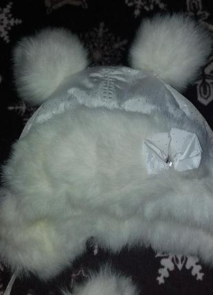 Зимова шапка для дівчинки