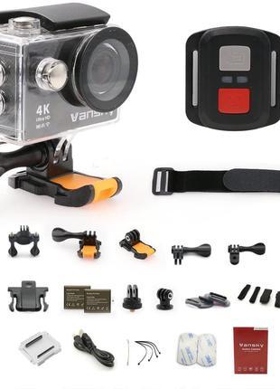 Спортивна екшн-камера Vansky, 4K WiFi 12MP 30M водонепроникний ку