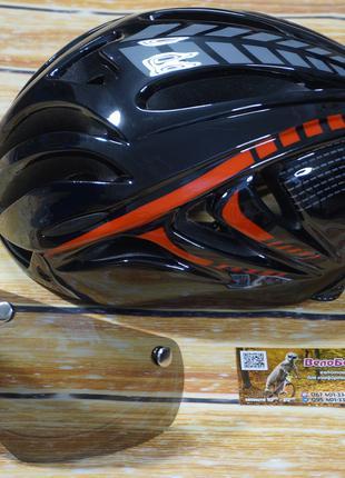 Шлемы велосипедные со стеклом, солнцезащитное стекло в комплекте