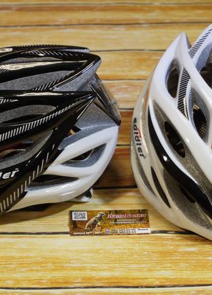Шлем велосипедный с габаритом/стопом, козырек в комплекте