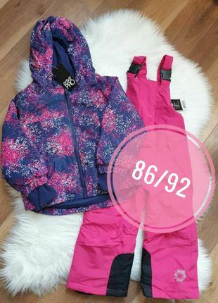Зимний лыжный комплект 86/92 на 12-24 мес костюм куртка + комб...