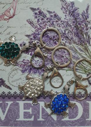 Брелок для ключей, украшение на сумку черепашка)