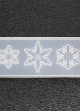 """Форма силиконовая """"Снежинка"""" - размер молда 9*4см, серый"""
