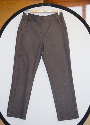 """Качественные женские серые брюки в клетку """"гусиная лапка"""" rbks..."""