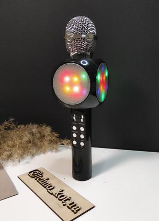 Беспроводной караоке блютуз микрофон wster  ws-1816 black