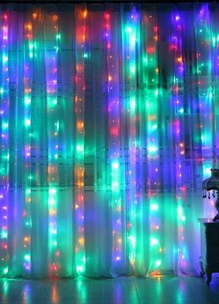 """LED гирлянда """"Водопад"""" ― световой занавес с завораживающим эффект"""