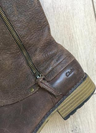 Кожаные демисезонные сапоги{ ботинки} clark's