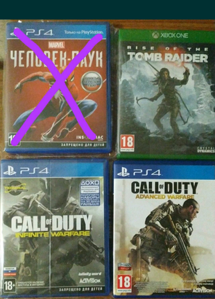 Игры ps4 и xbox one