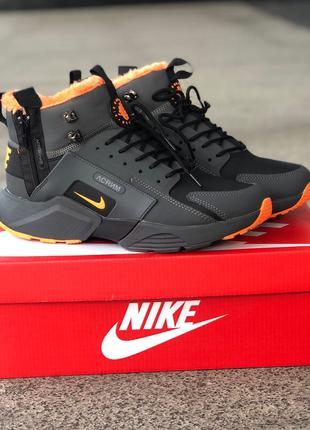 Кроссовки Nike Air Huarache Acronym Black/orange