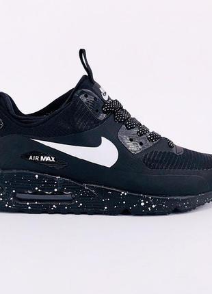 Зимові кросівки nike air max 90 mid winter black white