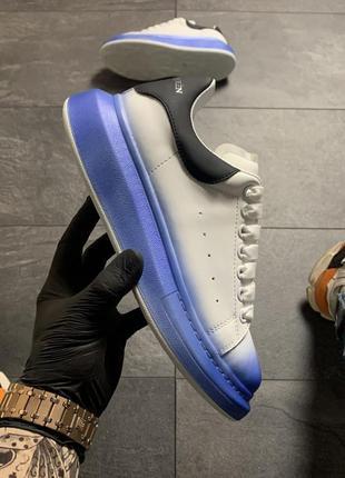 Шикарные женские кроссовки 🔥 alexander mcqueen white blue black