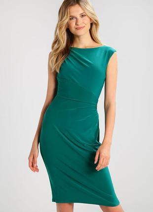 Бирюзовое  платье -джерси от ralph lauren. размер s.