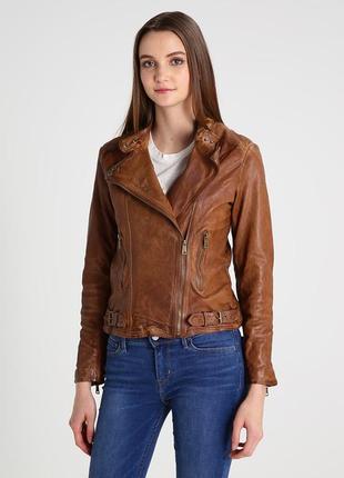 Кожаная куртка-косуха дорогого  люкс бренда ralph lauren