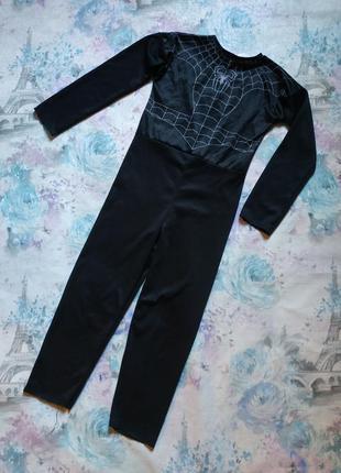 Карнавальный костюм супергероя, чёрный спайдермен, человек паук