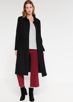 Черное,классическое .новое,строгое пальто mint & berry. размер м