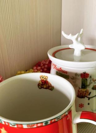 чашка заварник Новый год Рождество декор