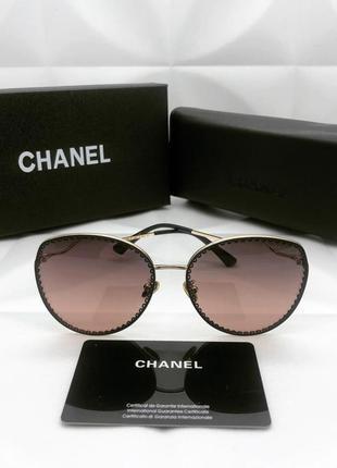 Женские солнцезащитные очки в стиле chanel шанель 🔥топ качество
