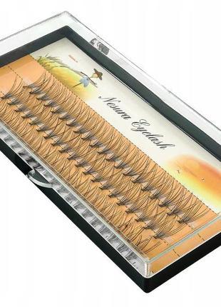 Пучковые ресницы nesura eyelash 11mm и 12 mm